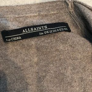 All Saints cowl sweater